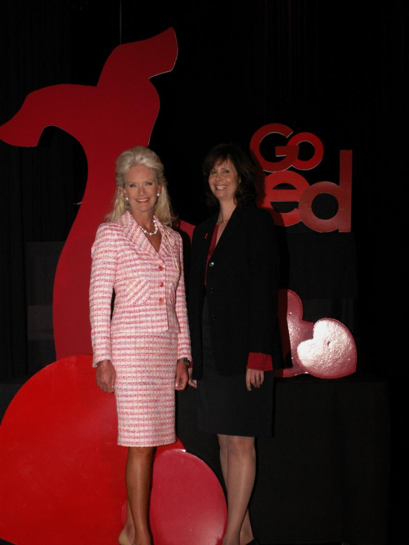 Dr. Matzer with Cindy McCain at GO RED